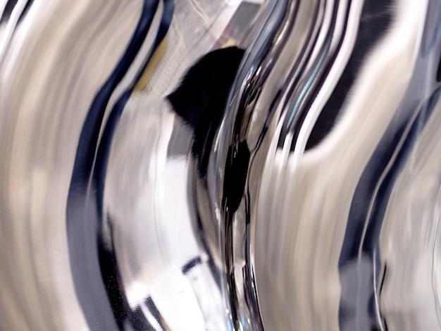 テクスチャード加工の抽象的なステンレスの背景
