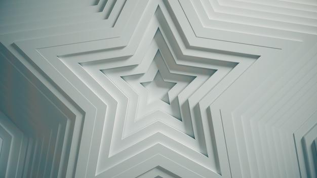 オフセット効果と滑らかな抽象的な星のパターン