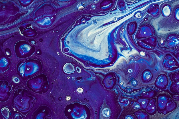 Abstract starry night bubbles acrylic painting