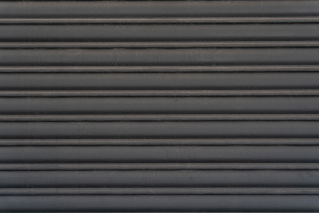 Abstract steel wall horizontal stripes