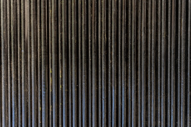 Abstract steel wall vertical stripes