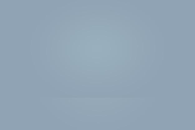 Абстрактная студия фоновой текстуры светло-голубой и серой градиентной стены, плоский пол. за товар.