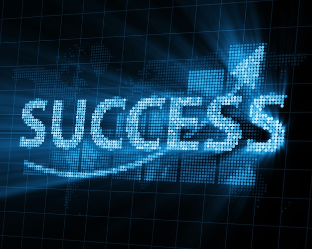 Abstract success background with glowing rays