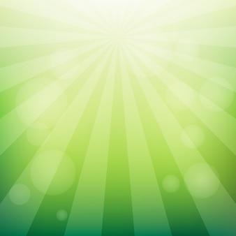 抽象的な日の出緑の背景