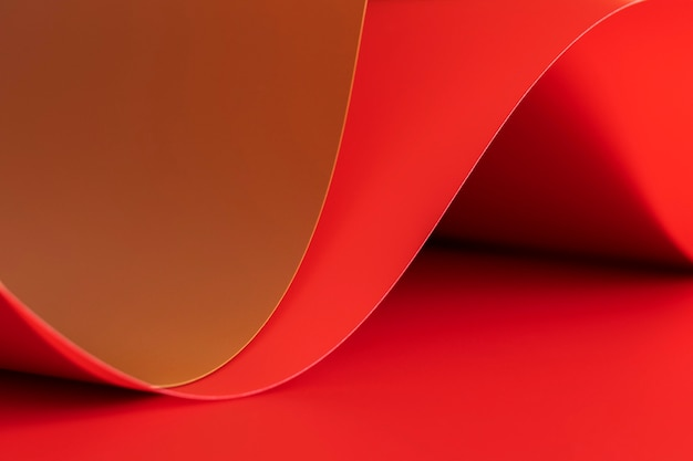 Abstract swirls of red papers