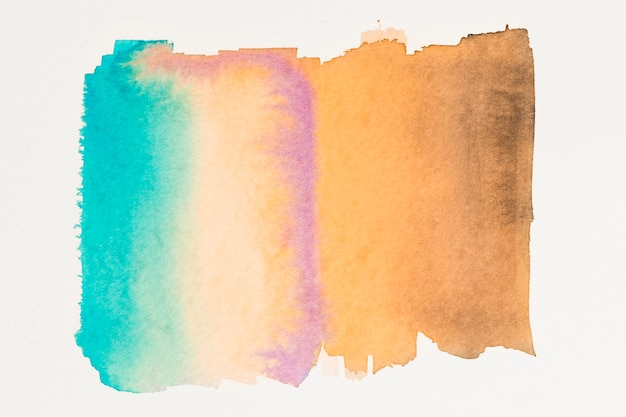 抽象的なティールオレンジ水彩壁紙