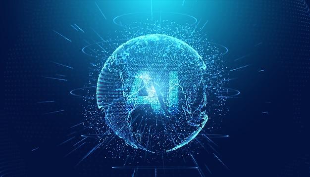 Abstract technology ai computing