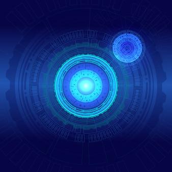 抽象的な技術背景ハイテク通信コンセプト