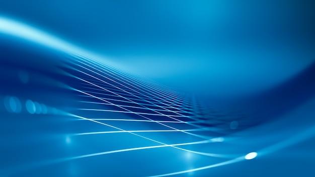 파란색과 흰색 톤, 3d 이미지와 추상 기술 배경