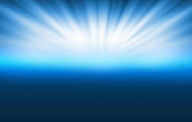空に光線と抽象的な技術の背景