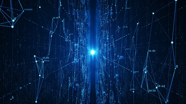 Abstract technology  big data background .