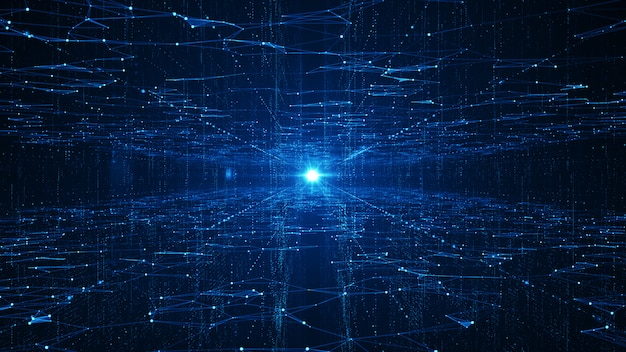Abstract technology big data background