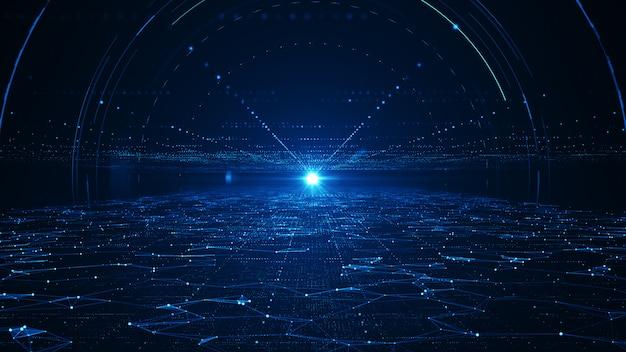 抽象的なテクノロジーのビッグデータのコンセプト。