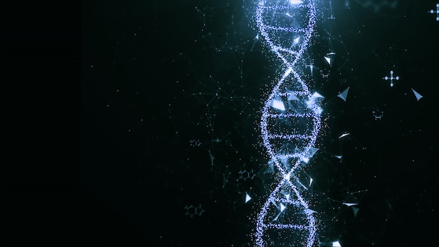 Abstract technology dna concept.