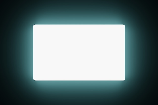 Abstract technology glowing blank led screens animation background 3d rendering