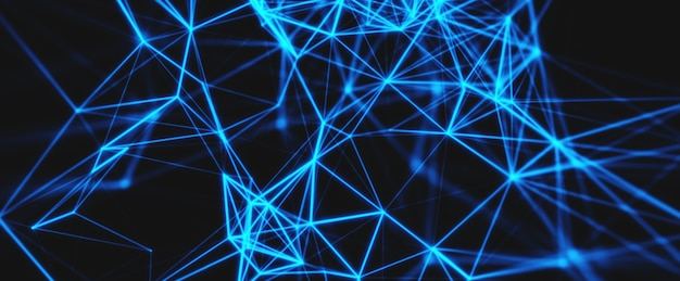 Abstract technology network background.