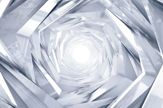 Abstract technology round tunnel background
