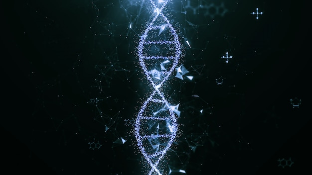 Abstract technology science concept, dna code structure.