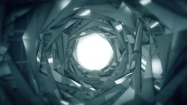 Abstract technology tunnel