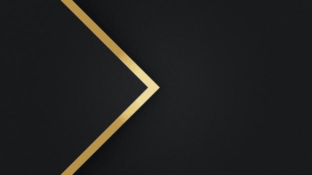 스트라이프 라인 황금 추상 템플릿 검은 삼각형 배경. 럭셔리 스타일
