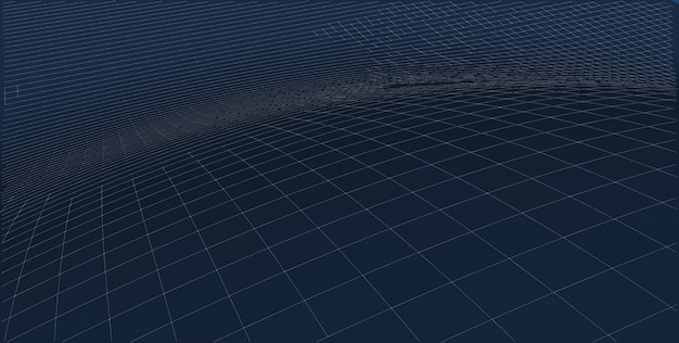 Abstract terrain wireframe landscape background.