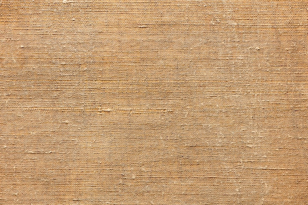 Abstract texture background of old canvas for painting closeup top view