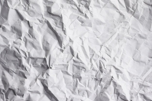 Abstract texture background of wrinkled white paper