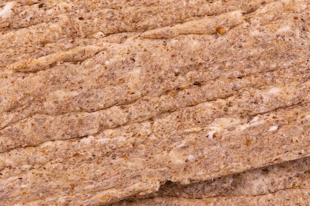 Abstract texture unleavened bread matzo macro shot background at close range