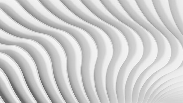 らせん状の丸みを帯びた階段のセットの抽象的な3次元の明るい白のテクスチャ。 3dイラスト。
