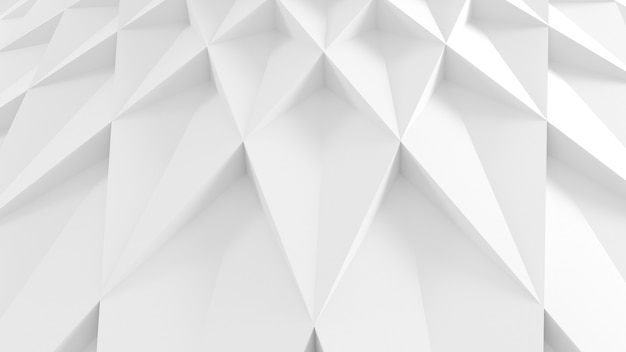 Abstract three-dimensional petals minimal white light texture of a set of straight square steps spiraling. 3d illustration.