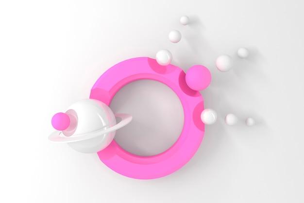 양식에 일치시키는 디스플레이가있는 둥근 컷 아웃이있는 많은 원의 추상 threedimensional 배경