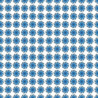 抽象的な伝統的な青いモザイクパターンの背景
