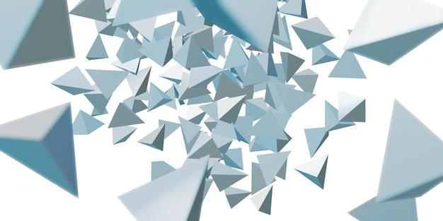 추상 삼각형 광택 기하학적 배경 3d 그림