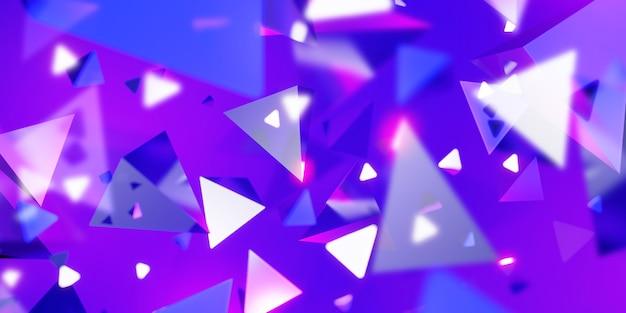 Абстрактный треугольник фон технологии сцены концепции 3d иллюстрации