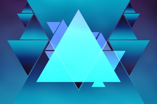 Abstract triangle shape background bright purple blue gradient