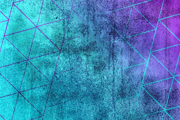 Abstract triangle shape blurred wall texture background blue purple gradient