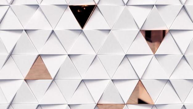 흰색과 황금 삼각형 추상 삼각형 배경