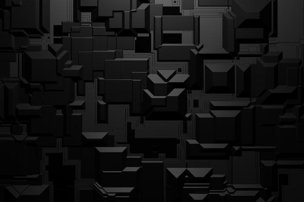 Абстрактный трехмерный темный рендеринг