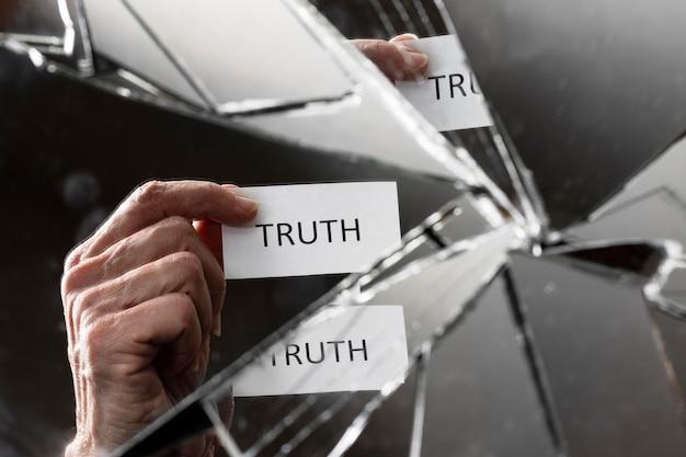 Абстрактная композиция концепции истины