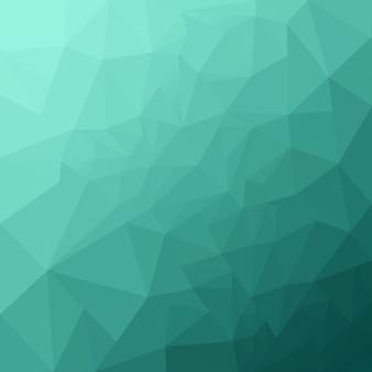 抽象的なターコイズの幾何学的な背景。ポリゴンの背景。低ポリバックグラウンド、