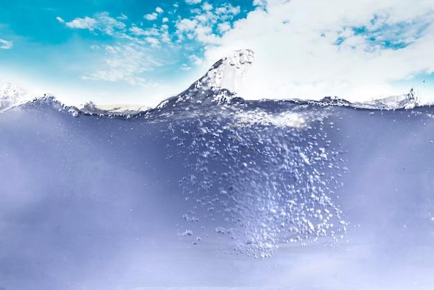 The abstract underwater bubbles in ocean underwater simple design
