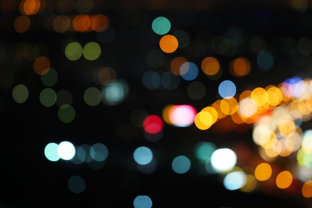Abstract various colorful blurred bokeh