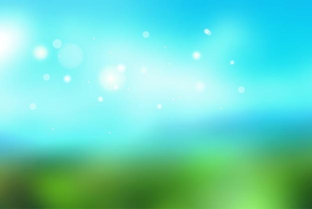 抽象的なベクトルぼやけた背景焦点がぼけた緑の自然の背景