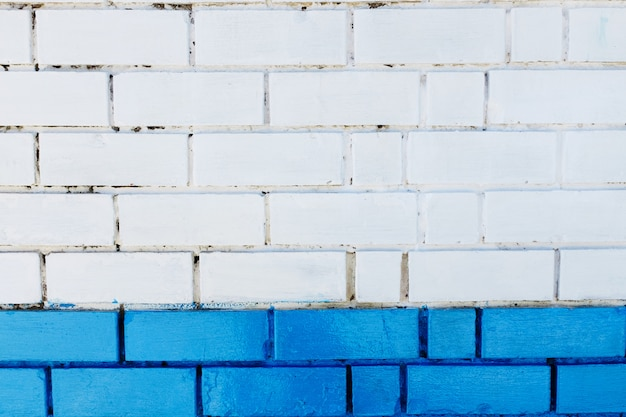 Abstract vertical modern square white brick tile wall texture . blue colour