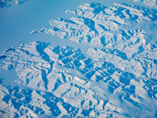 冬の風景の抽象的なビュー