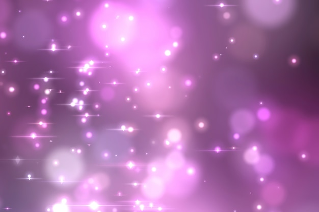 Abstract violet glowing bokeh background.