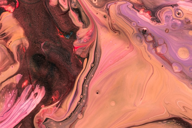 Abstract violet ink effect on water