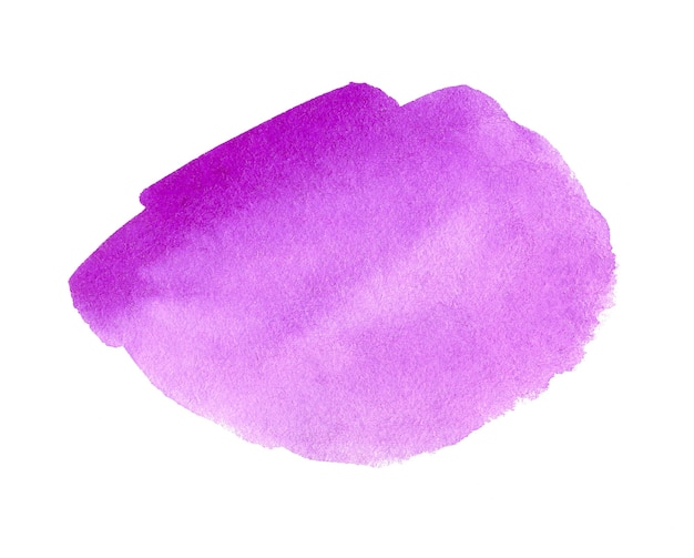 Abstract violet watercolor background. hand drawn watercolor spot. violet design artistic element for banner, template, print and logo