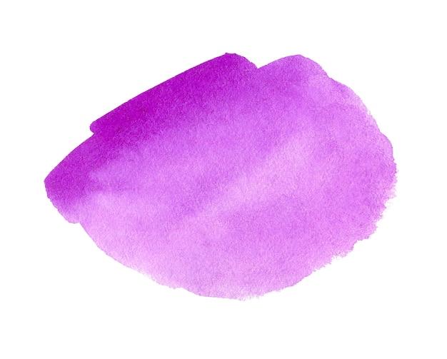抽象的な紫の水彩画の背景。手描きの水彩スポット。バナー、テンプレート、プリント、ロゴのバイオレットデザインの芸術的要素