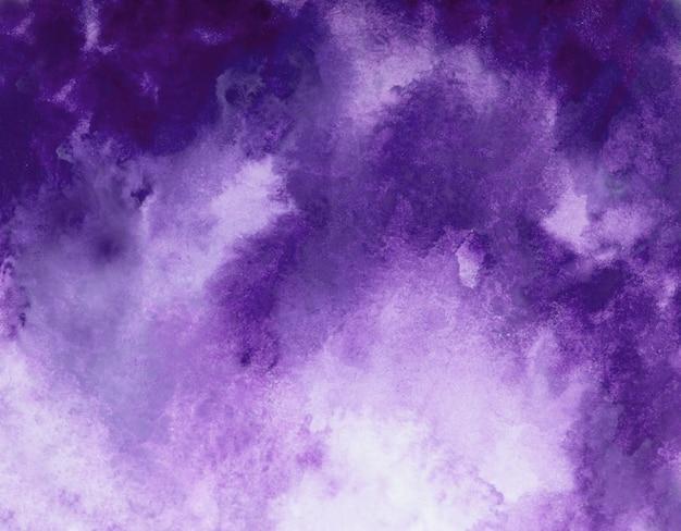 Abstract violet watercolor splash stroke background